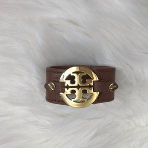 Tory Burch Leather Cuff Bracelet